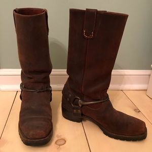 Vintage 1990's Prada Brown Suede Leather Boots 8